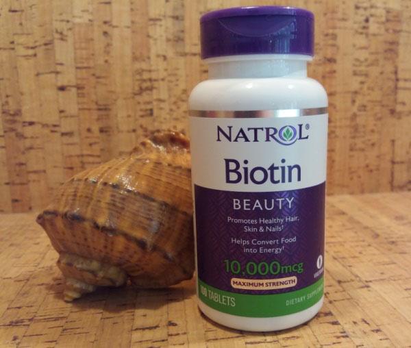 Natrol, Биотин, со вкусом клубники, 10000 мкг, 60 таблеток